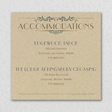 Wedding Day Grandeur Accommodation Card