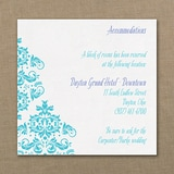 Vibrant Damask - Accommodation Card