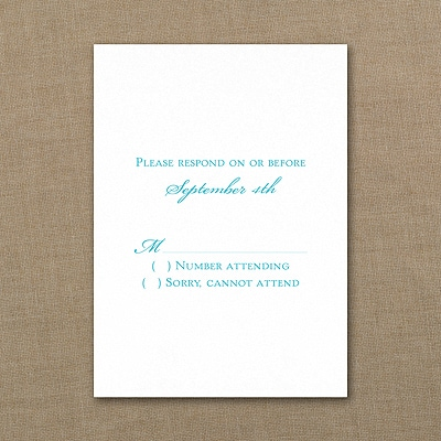 Response Card - White