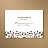Woodland Flowers - Response Card and Envelope - Mocha