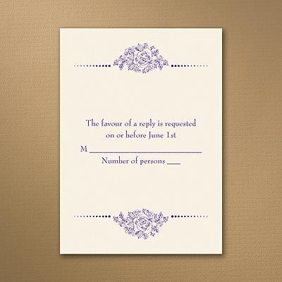 Fairy Tale Love - Ecru - Response Card and Envelope