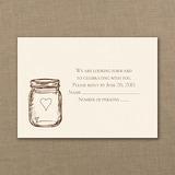 Lantern Jar - Response Card and Envelope - Ecru