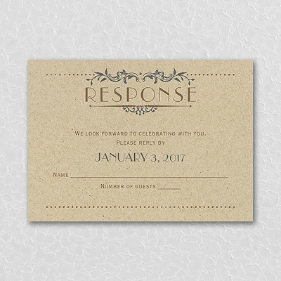 Wedding Day Grandeur - Response Card and Envelope