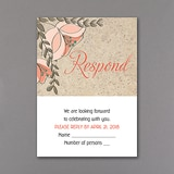 Floral Corkboard - Response Card and Envelope
