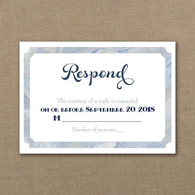 Classical Marble - Response Card and Envelope
