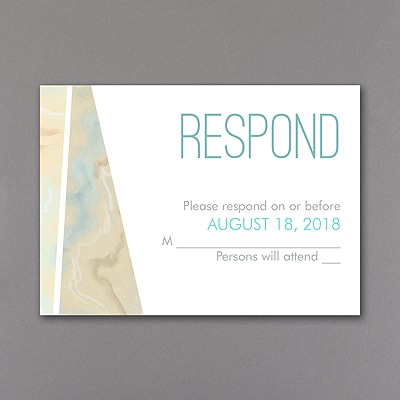 Marbled Geometry - Response Card and Envelope