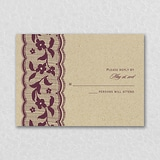 Love Lace - Response Card and Envelope