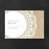 Surrounded in Lace - Response Card and Envelope - White