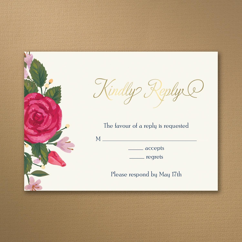 Vintage Flowers - Invitation > Wedding Invitations | Carlson Craft ...