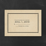 Rustic Style - Response Card and Envelope
