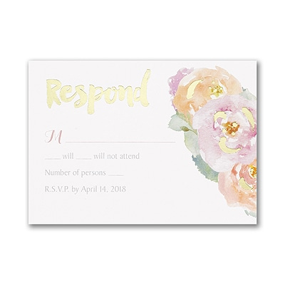 Posy Watercolor - Response Card and Envelope
