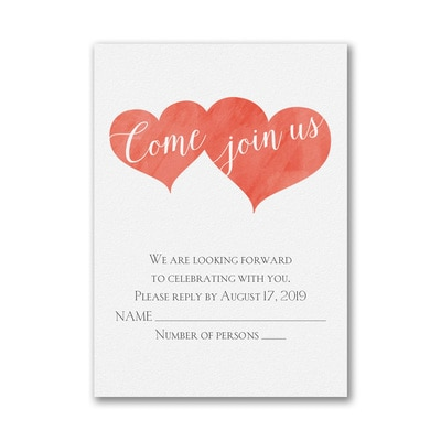 Bright Love Story - Response Card and Envelope