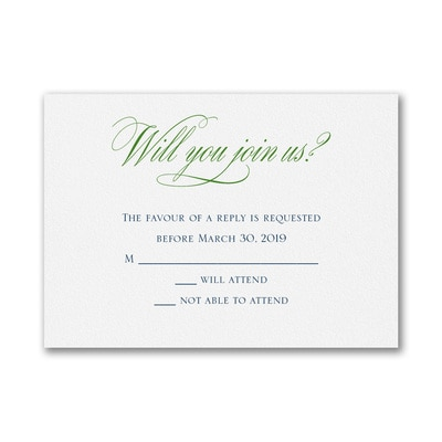 We Wed - Response Card and Envelope