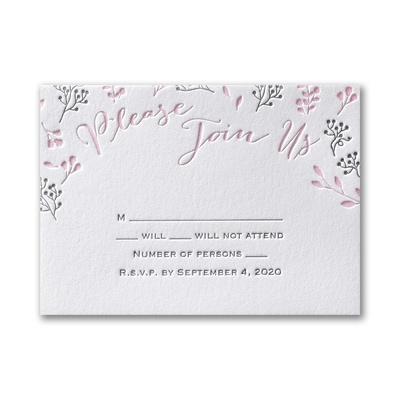 Delicate Floral - Response Card and Envelope