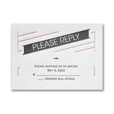 Great Type - Response Card and Envelope