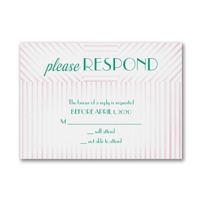 This Day Deco - Response Card and Envelope