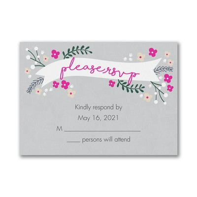 Wedding Day Banner - Response Card and Envelope