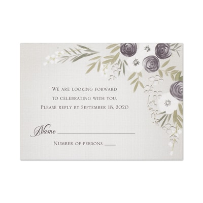 Floral Swag - Response Card and Envelope