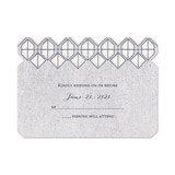 Geometric Vows - Response Card and Envelope