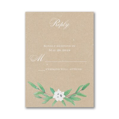 Together Forever - Response Card and Envelope