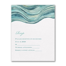 Ocean - Response Card and Envelope