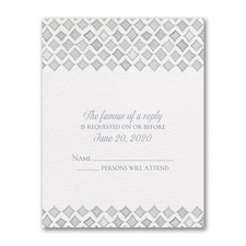 Quiet Moments - Response Card and Envelope
