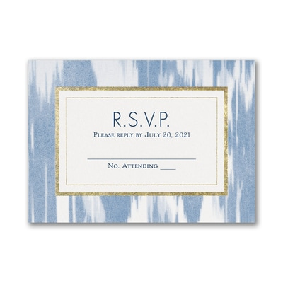 Contemporary Ikat - Response Card and Envelope