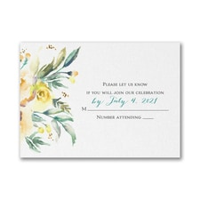 Watercolor Beauty - Yellow - Response Card and Envelope