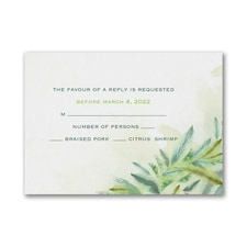 Jungle Romance - Response Card and Envelope