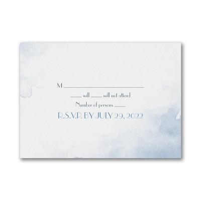 Geometric Watercolor - Response Card and Envelope
