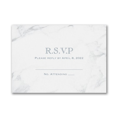 Marble Masterpiece - Response Card and Envelope