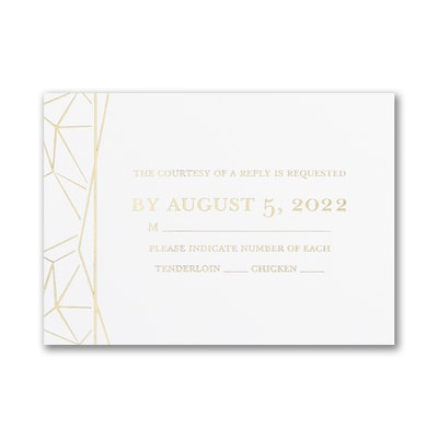 Shining Geometric - Response Card and Envelope