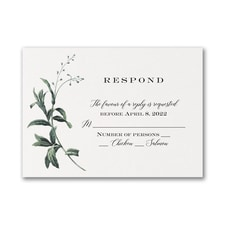 Lovely Greenery - Response Card and Envelope