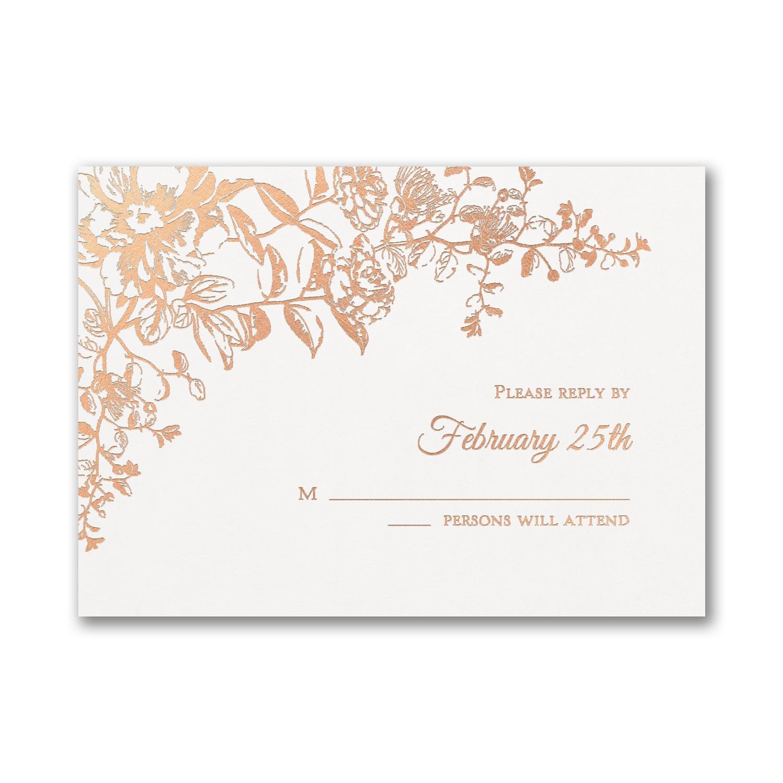 Blooming Flowers Response Card And Envelope Enclosures