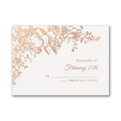 Blooming Flowers - Response Card and Envelope