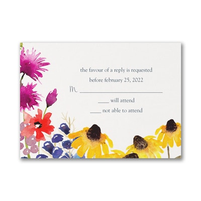 Nature's Beauty - Response Card and Envelope