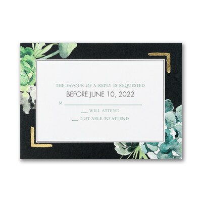 Bountiful Greenery - Response Card and Envelope