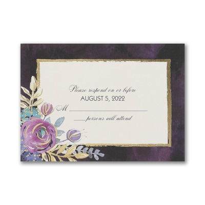 Midnight Floral - Response Card and Envelope