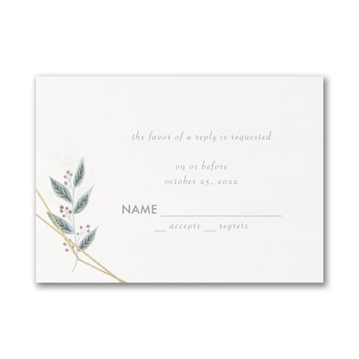 Naturally Beloved - Response Card and Envelope