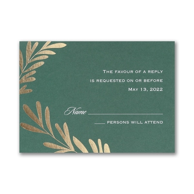 Contemporary Greenery - Response Card and Envelope