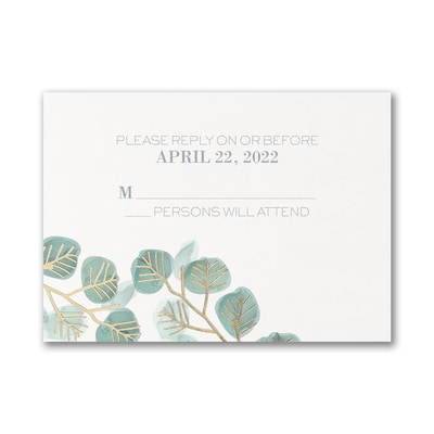 Captivating Leaves - Response Card and Envelope