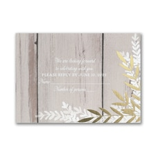 Rustic Beauty - Response Card and Envelope
