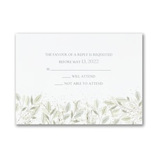 Charming Greenery - Response Card and Envelope