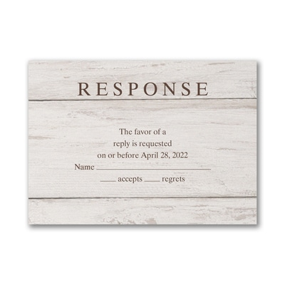 Nature's Darling - Response Card and Envelope