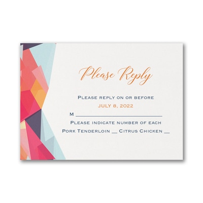 Colorfully Modern - Response Card and Envelope