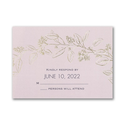 Flower-Patterned Romance - Response Card and Envelope