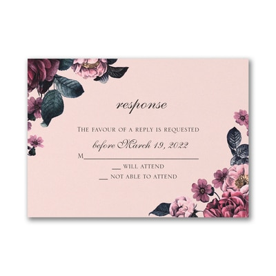 Winter Floral - Response Card and Envelope
