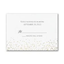 Shining Confetti - Response Card and Envelope
