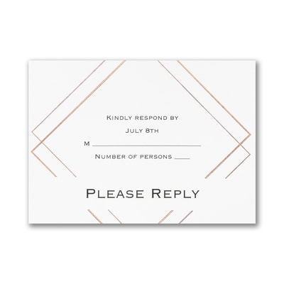 Shining Elegance - Response Card and Envelope