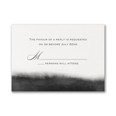 Artistic Type - Response Card and Envelope